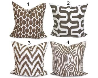BROWN PILLOWS, Brown Pillow Covers, Pillow Cover, Decorative Pillow, Brown Throw Pillow, Pillows, Accent Pillow, All Sizes, Euro, Cushion