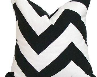 BLACK CHEVRON PILLOWS, Black Pillow Covers, All Sizes, Black Decorative Pillow, 18x18, 16x16, 22x22, 24x24 26x26 and more, Black Cushion