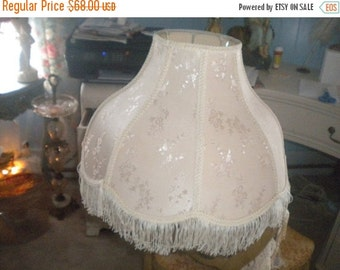 SUMMER SALE Large Lampshade, Victorian, French, Hollywood Regency, French Country,Ecru
