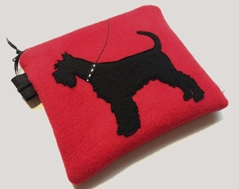 Schnauzer coin purse bag pouch