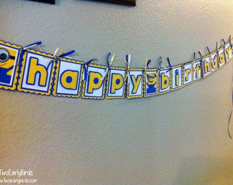 "One in a ""Minion""  'Happy Birthday' Banner"