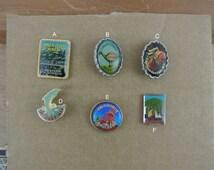 Vintage Australian Travel Souvenir Hat / Lapel Pins Badges Australia New South Wales W.A & Hobart Australia