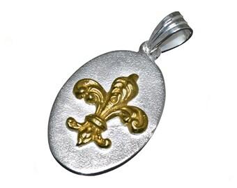 Fleur De Lys Pendant Sterling Silver 925