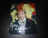 signed Gene Wilder 8x10 photo - Willy Wonka Chocolate Factory autograph