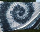 Tie Dye Duvet Set - Hippie Bedding - Black White Grey - Egyptian Cotton - GREYSCALE