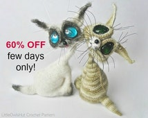 010 Cat Siam toy with wire frame - Amigurumi Crochet Pattern PDF file by Pertseva (Dragon eyes) Etsy