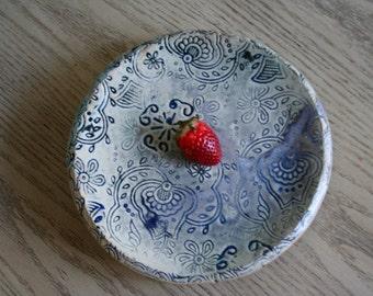 Hire Fire Ceramic Stoneware Batik Stamped Plate