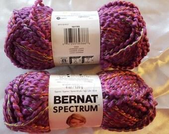 Bernat SPECTRUM Yarn OVERSTOCK - 68 Yards  Lavender Lights
