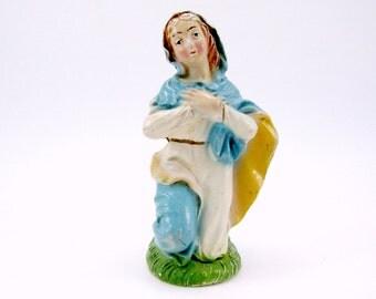 Vintage Virgin Mary Nativity Figurine Vintage Chalkware Christmas Decoration 1950s Italian