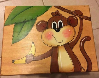 Monkey Step Stool Etsy