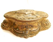 French Antique Gilt Spelter Louis XV Style Jewelry Box (C103)
