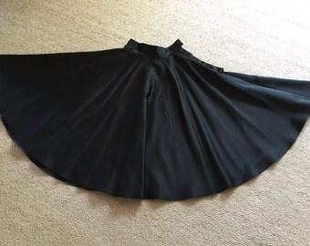 Vintage Black Full Circle Skirt Top Quality Rockabilly Jive Dance Flared