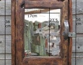 BATHROOM CABINET with mirror door in recycled timber