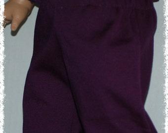 "18"" Doll Dress Pants  - Plum (American Girl Doll)"