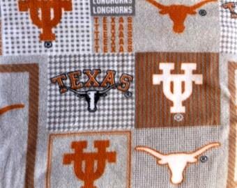 Texas Longhorns NCAA Football Gray Fleece Sports Baby Blanket