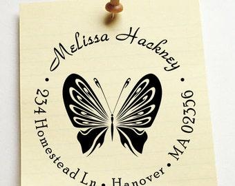 custom address stamp,SELF INKING Return address stamp,personalized family address stamp,wedding address stamp,butterfly,R46