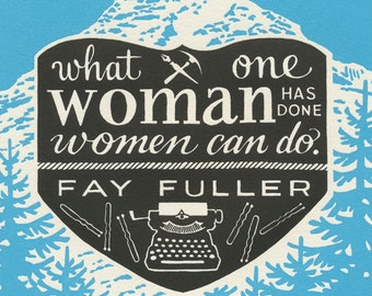 THE WRITE PATH original Dead Feminists letterpress mini print featuring quote by Fay Fuller
