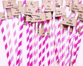 25 Day Drinking Paper Straws With Flags