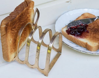 Vintage Toast Server can be used as Letter Holder Desk Organizer Mail Sorter Photo Display