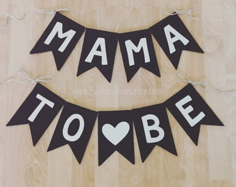 Mama To Be Felt Bunting // Baby Shower Decoration