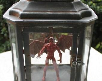 Demon Night Light - OOAK custom action figure - in a night light!