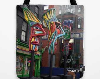 "Ireland and Love Tote Bags / 16"" x 16"""