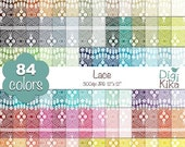 70% Sale Lace Digital Papers - Rainbow Lace Papers - Lace Scrapbook Papers - Huge Paper Pack- INSTANT Download
