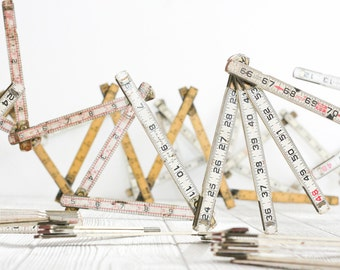 Vintage Folding Rulers, eight