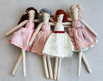 Ballerina Ragdolls: Handmade from Vintage and Recycled Materials, Cloth Doll, Dance, Ballet, Nutcracker