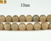 15 inch strand of Electroplated Agate,titanium Agate druzy round beads 10mm