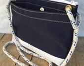 Corsica Crossbody Bag, Canvas & Recycled Sail Bag, sail cloth bag, Eco Bag, Vegan purse, Eco fashion, Sail bag