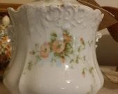 Antique Porcelain Biscuit Jar - Eglantine Germany