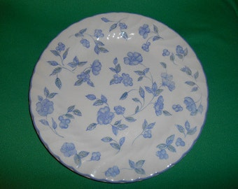"One (1), 10 1/2"" Dinner Plate, from Barratts China, in the BTT 7 Pattern."