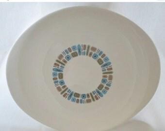 "ON SALE Vintage Temporama By Canonsburg Oval 13"" Serving Platter, Mid Century Modern, Platter, Serving Platter, Entertaining, Turquoise, Ato"