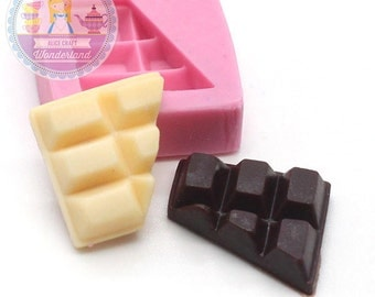 Half Chocolate 17mm Miniature Food Mould Fake Food Mould Flexible Push Mould Silicone Mould 385s BEST QUALITY