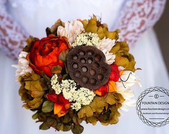 Antique Vintage Bouquet with Matching Boutonniere