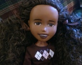 The Let it Snow Doll, Drollerie Doll, bratz rescue repaint + makeunder