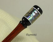 RESERVED.  Hair stick  -225mm-   Handmade from Jarrah and Abalone  by Elymwold.