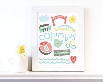 columbus print
