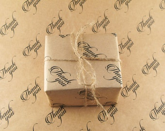 Kraft Wrapping Paper - Thank you - A3 (420 x 297mm | 16.5 x 11.6 inches)