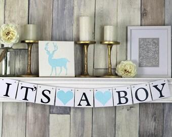 Its A Boy Banner, Baby Shower Decor, Baby Shower Banner, Baby boy Banner, Its a boy, It's a boy Sign, Boy baby shower, its a boy decor