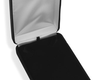 Jewelry Supplies Box Black Velvet Necklace Gift Box Comes with White Outer Box Too