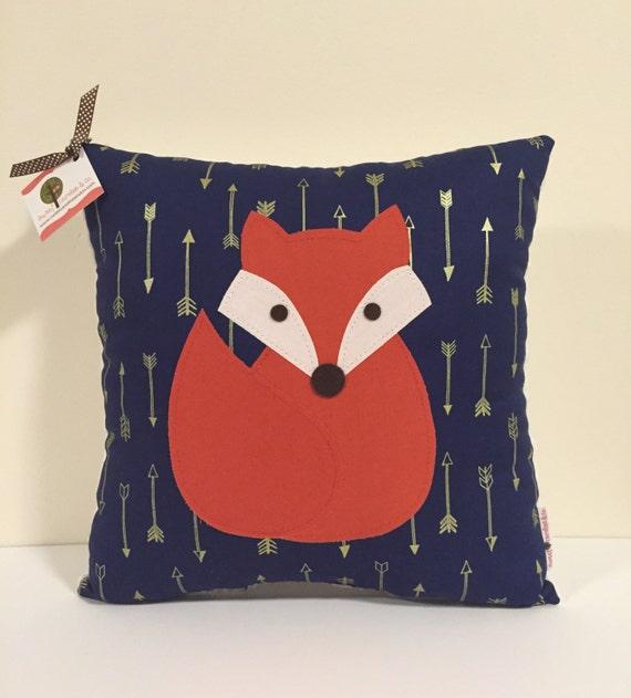 Animal Pillows For Nursery : Fox Pillow Fox Themed Nursery Woodland Animal Nursery