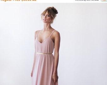 Pink maxi straps dress, Maxi pink lining dress