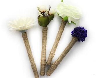 Floral Guest Book Pen - Rustic Wedding Decor