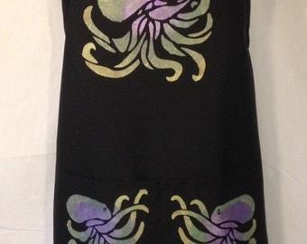 Octopus Black Apron