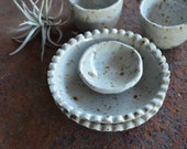 Set of 5 Condiment and Spice Bowls - Ceramic Spice Bowls - Ceramic Condiment Bowls - Pottery Spice Bowls