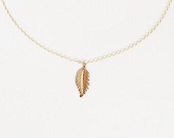 Woodland Leaf Necklace // Leaf Necklace // Leaf Bridal Jewelry // Woodland Bridal Jewelry