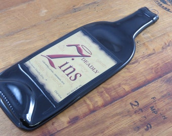 Slumped Wine Bottle Cheese Tray - 7 Deadly Zins