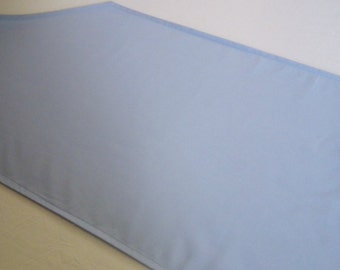 "On clearance, flawed solid color SKY BLUE table runner | 72"" x 12"" 
